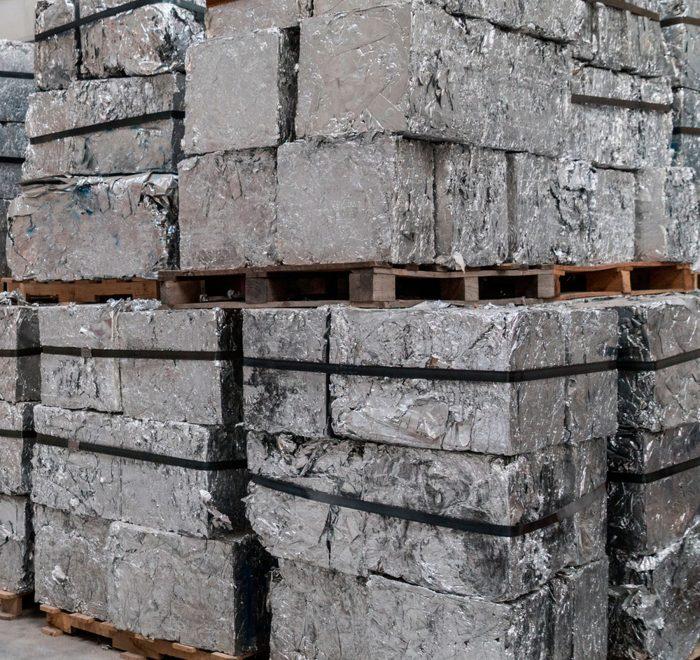 bloques de aluminio reciclado